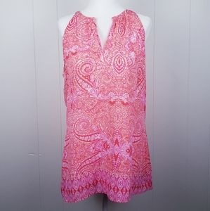CYNTHIA ROWLEY Pink Paisley Halter Top Siz…